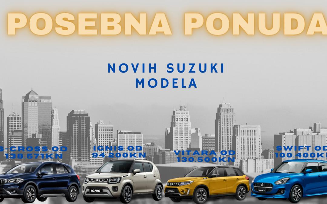 Dođite na probnu vožnju novih Suzuki modela!